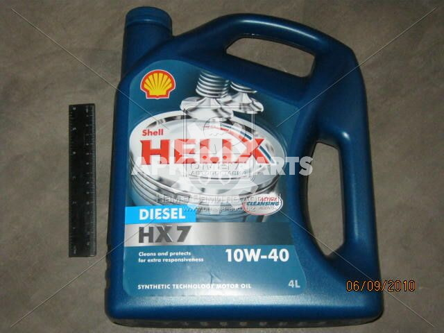 Масло моторн. SHELL Helix Diesel HX7 SAE 10W-40 CF (Канистра 4л)