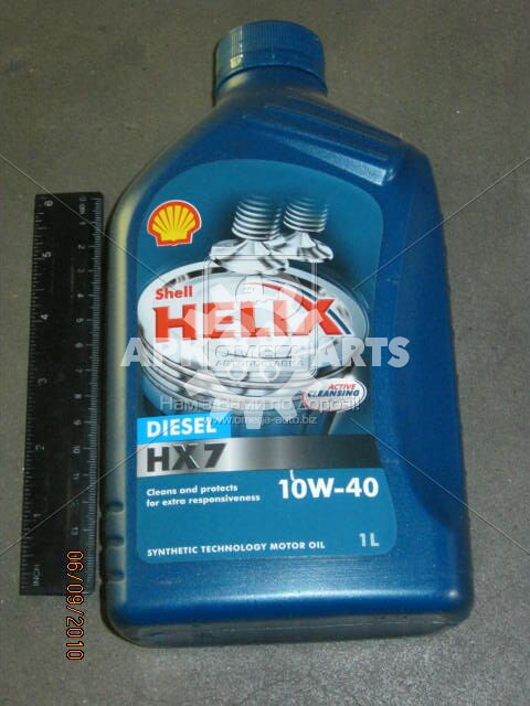 Масло моторн. SHELL Helix Diesel HX7 SAE 10W-40 CF (Канистра 1л)